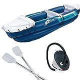 #1118 Aufblasbares Kanu für 2 Personen - Boot Aufblasbar Kajak Schlauchboot Alu Paddel