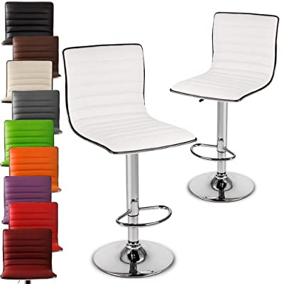 Miadomodo Set of 2 Adjustable Bar Stool Chairs Home Furniture DIFFERENT COLOURS - cheap UK bar stool store.