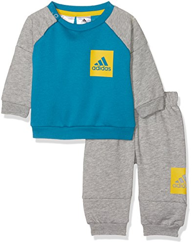 adidas Baby Jogginganzug Shiny mit Kapuze