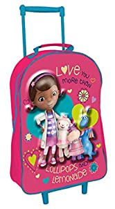 Disney Character 3d Effect Kids School Wheeled Trolley Luggage Suitcase Bag