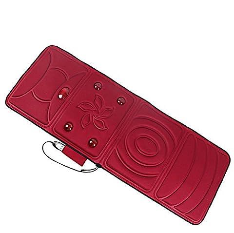 CHENGREN coussins de matelas de massage chauffant multifonction version améliorée corps de choc électrique couverture de massage coussin de massage personnes âgées équipement de massage pliable santé beige taille 166 * 58 * 3 centimètres * , 1