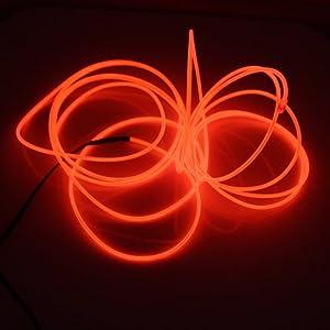 Lerway 3M Couleur Fil Neon LED Flexible Lumière, EL Wire Lumineux Lumineuse pour Fete Decoration Noel Exterieure, Eclairage Velo, Bar Deco,Cuisine LED