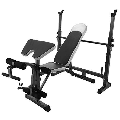 COMOTS panca multifunzione fitness con posizione regolabile pieghevole panca manubri allenamento ABS...