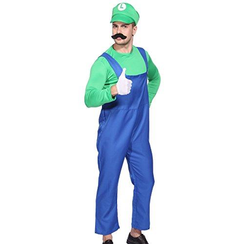 Imagen de cle de tous  disfraz de luigi para adulto hombre cosplay dress fiesta carnaval halloween talla xl