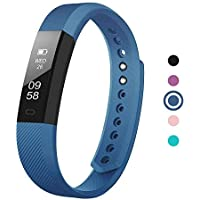 Delvfire Ignite Fitness Tracker Watch with Sleep Monitor, Activity Tracker, Step and Calorie Counter, Bluetooth Sports Pedometer Bracelet compatible with iPhone Android, Kids, Ladies, Women, Men