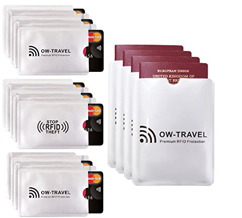 ✅ SureSECURE RFID & NFC Blocking Credit Card Holders + Passport Protector Sleeves - Top Rated Identity Theft Protection