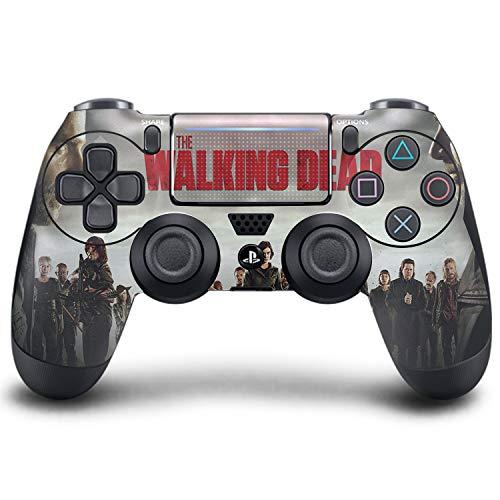PS4 DualShock Wireless Controller Pro Konsole PlayStation4 Controller mit weichem Griff und exklusiver individueller Version Skin (PS4-Walking Dead)