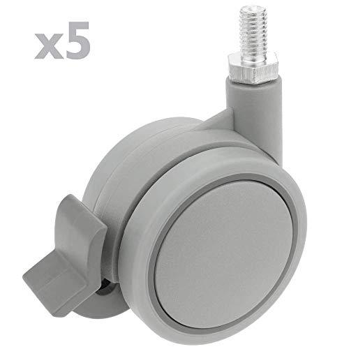 Roulettes pivotantes roue industrielle en polyur/éthane sans frein 100 mm M12 PrimeMatik
