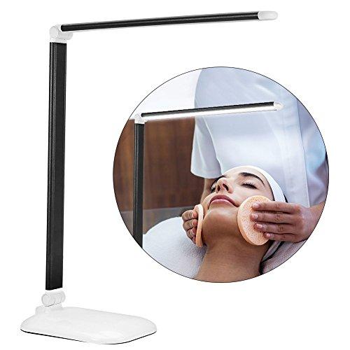 100-240v LED Schreibtischlampe, Faltbare LED Tischleuchte 3 Stufen Dimmer Augenpflege LED Schreibtischlampe Touch Control Office Lampe