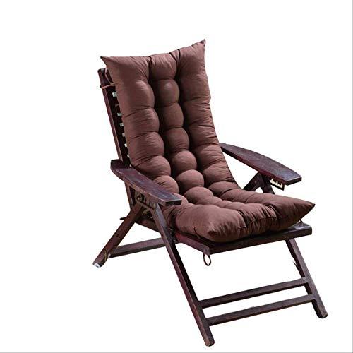 AINIYUE Outdoor Stuhl Kissen, Wohnzimmer Stuhl Lange solid Seat Pad, Baumwolle Stuhl Sofa Matte, für weiche Sendezeit 48X125cm Kaffee