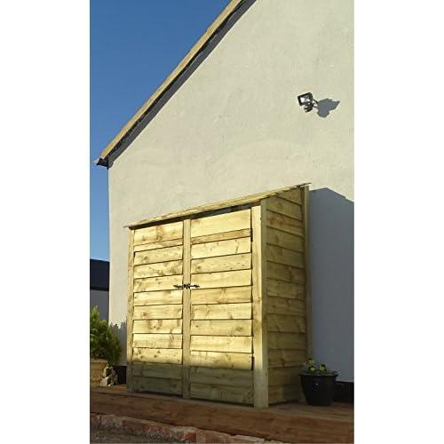 41dZkpuxa0L. SS500  - Arbor Garden Solutions Wooden Log Store 6Ft With Doors (2.1 cubic meters capacity) (W-146cm, H-180cm, D-81cm) (Light Green (Natural))