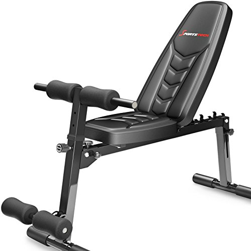 Banco de pesas Sportstech BRT500 8en1 con acolchado ergonómica EVA(plegable, sistema de...