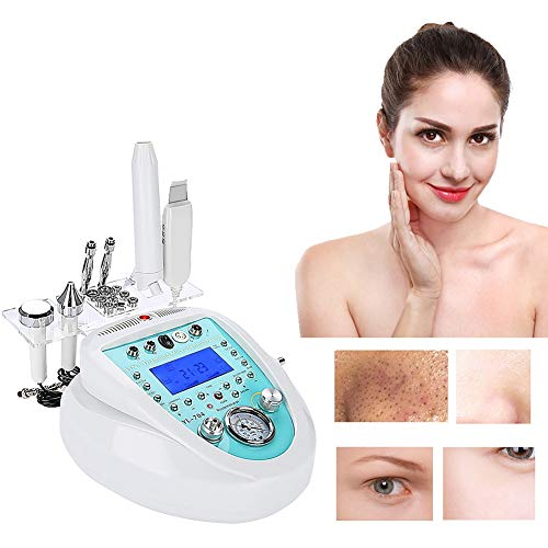 e Schönheit Maschine, Diamant Mikrodermabrasions Gerät, Gesichts Behandlung Maschine + Hautwäscher + Hochfrequenz Elektrotherapie für Mitesserentferner & Peeling Hautpflege(Weiß) ()