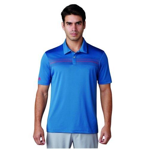 adidas Climacool Chest Print T-Shirt Golf, Poloshirt L blau -