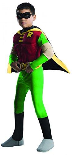 Batman Robin Deluxe Kostüm für Kinder, Größe:Toddler (Robin Muskel Kostüme)
