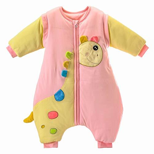 0d37acad4 Saco de dormir para bebé con piernas, cálido forro de algodón de invierno y  manga