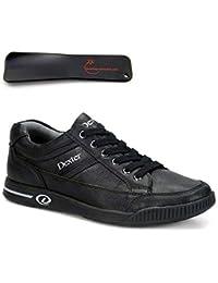 bowling-exclusive - Zapatos de Bolos de Cuero para Hombre Negro Negro
