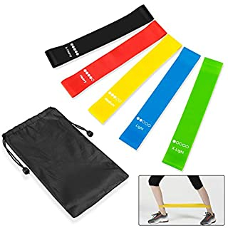 XY-shell Resistance Bands Exercise Bands Fitness Loop Band Stretch Physio bands | Set of 5 for Legs Glutes Gym Yoga Train Workout Ankle Women Men
