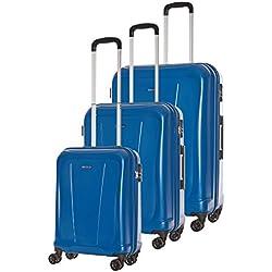 VERAGE - Juego de maletas azul 50/60/70 cm