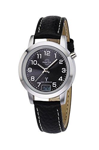 Master Time Funk Basic Series Damenuhr MTLA-10577-24L, Leder Armbanduhr Schwarz