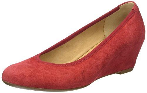 Gabor Fashion, Pompes à Plateforme Plate Femme Rouge (rosso 15)