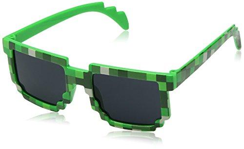 8-Bit Retro Videospiel Pixel Sonnenbrille - Farbe: Grün von EnderToys