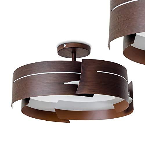Plafonnier Novara métal brun design\\