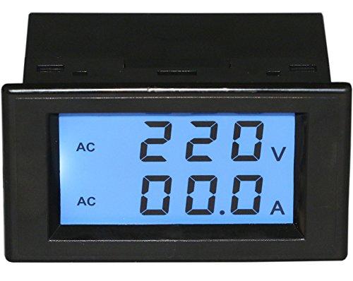 Preisvergleich Produktbild Yeeco LCD Doppelanzeige AC 80-300V 100A Digitale Voltmeter Amperemeter Amp Volt Panel Meter Voltage Current Monitor 110V 220V Power Monitor Spannungsmess Current Tester Zwei Drähte mit Stromwandler CT