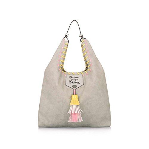 Le Pandorine TANK BAG Shopping Donna Grigio