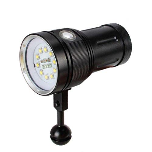 OVERMAL 10x XM-L2 + 4x R + 4x B 12000LM LED Fotografie Video Tauchen Taschenlampe Fackel