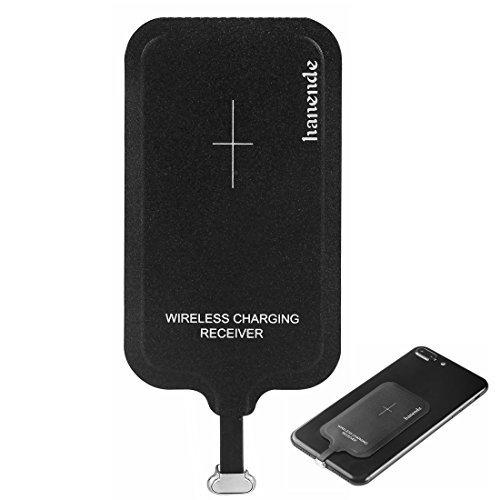 Micro USB B Récepteur de Charge Sans Fil, Hanende Magic Tag Qi Chargeur Sans Fil Chargeur Récepteur Patch Module Chip pour VIVO X6 et Autres Téléphones Avec Interface Micro USB B (côté étroit vers le bas)
