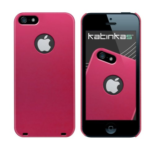 Katinkas Snap Hard Case für Apple Apple iPhone 5 matt schwarz Pink