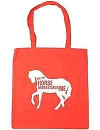 HippoWarehouse solo mi caballo ME entiende Tote Compras Bolsa de playa 42cm x38cm, 10litros