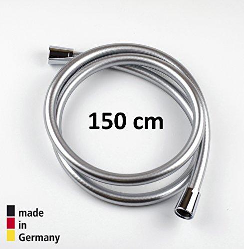 Oldoplast 1.5 m argento - tubo flessibile per doccia in pvc di ricambio universale, antipiega e a prova di perdite, fatto in germania