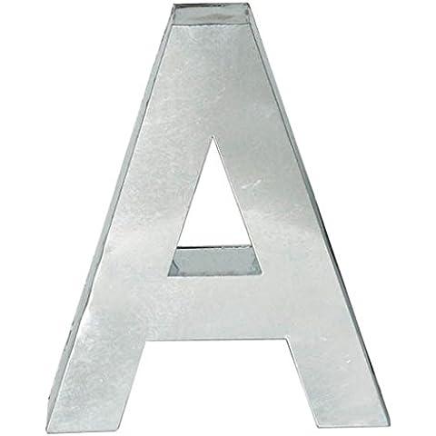 METALVETICA - lettera S, in metallo saldato a mano, appendibile