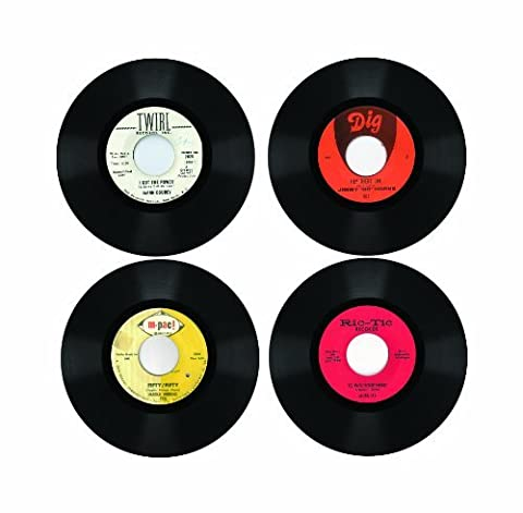 Northern Soul Rare Record Coasters 4 Piece Wooden Coaster Set by Shires