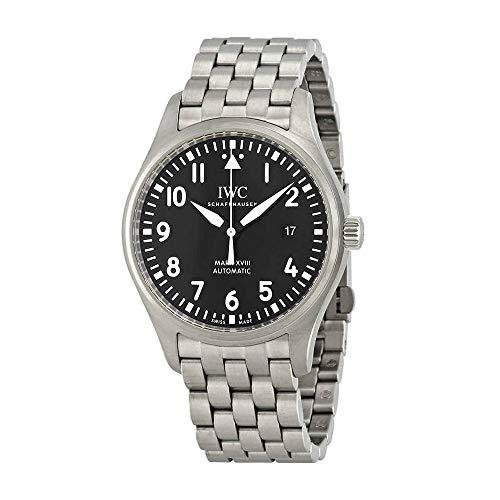 IWC Mark XVIII Reloj automático de Acero Inoxidable para Hombre, Esfera Negra, IW327015