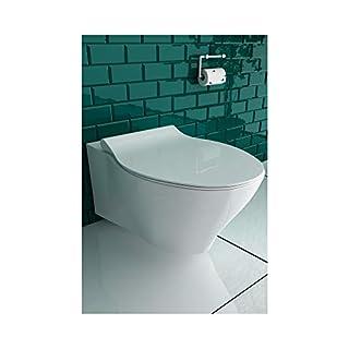 Spülrandloses WC mit WC-Sitz Hänge Toilette ohne Spülrand