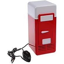 USB Refrigerador - SODIAL(R)Mini USB Refrigerador (Rojo)