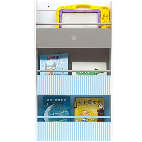 Kinder-bücherregal Kopfteil (Lszdp-negozio Arbeitszimmer Bücherregal Einfaches Bücherregal Home Kinder Bücherregal Bodenständer Kindergarten Staffelei Bücherregal Lagerregal Blau 102x57x16cm Büro-Studie)
