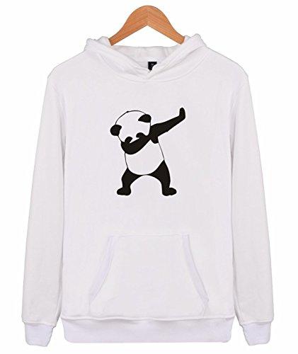 Idol -  Felpa  - Uomo Panda-Weiß