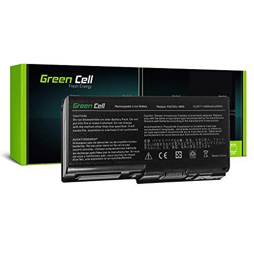 Green Cell® Standard Serie PA3730U-1BRS Laptop Akku für Toshiba Qosmio G60 X500 X505, Toshiba Satellite P500 P505 (6 Zellen 4400mAh 11.1V Schwarz) -