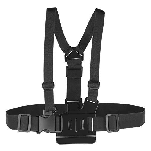 TECHSON Brustgurt für GoPro Hero, verstellbare Gurte, universeller Kamera-Gürtel, kompatibel mit Hero 6, 5, Schwarz, 4, Session, Hero+ LCD, 3+, 3, 2, 1