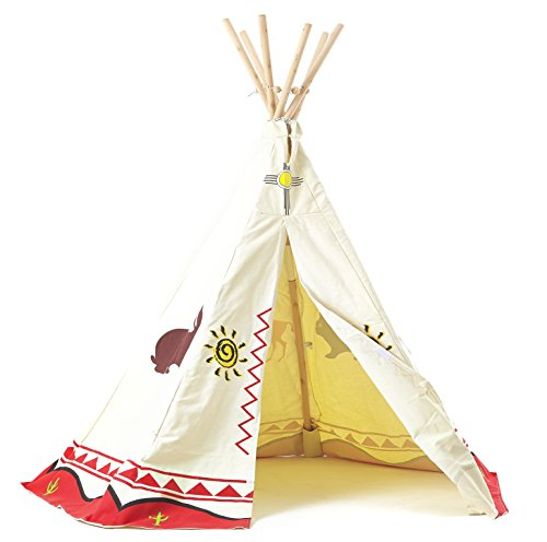 childrens-wigwam-teepee-play-tent-traditional-wild-west-cowboys-and-indians-tipi-by-garden-games-ltd