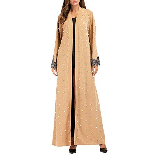 Zhuhaitf Mode Muslim Kleid Marokkanische Islamische Kleidung Türkische Abayas für Frauen Front Open Lange - Marokkanische Brust