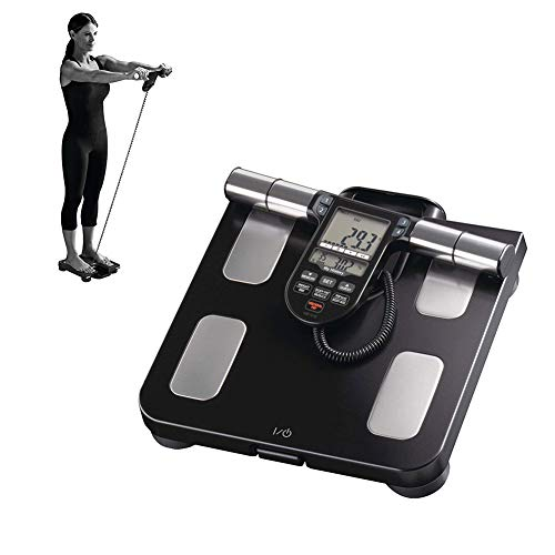 XKRSBS Personenwaage Körperwaage Gewichtswaage Portable Composition Monitor BMI Grundumsatz 7 Fitnessindikatoren Fettwaage für Familien