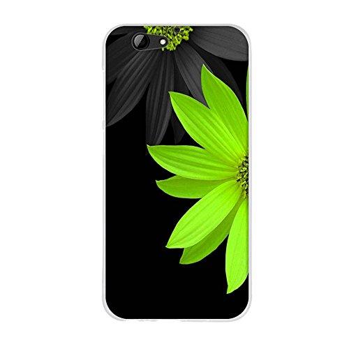 Fubaoda,Premium Hülle für HTC One A9s,Transparente & Feine TPU Silikon-Schutz,Schöne Blumenzeichnung,Hochwertiger Schutz mit Herausragendem Design Handyhülle für HTC One A9s (5.0