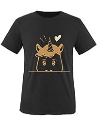 Comedy Shirts - Luscherndes Einhorn - Mädchen T-Shirt - Rundhals, 100% Baumwolle, Top Basic Print-Shirt