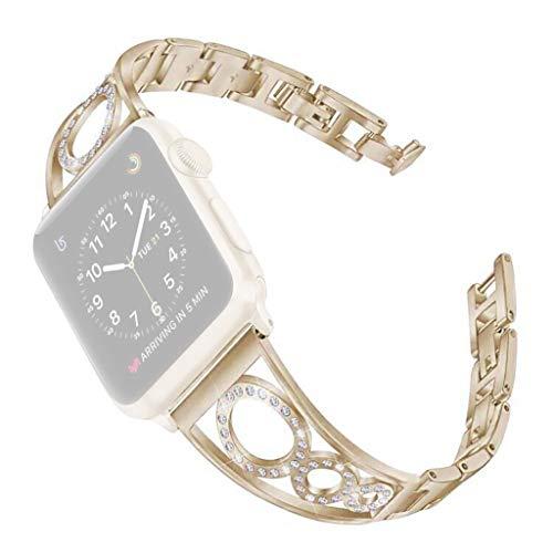 Webla Uhrenarmband für Apple Watch 2/3/4 42 / 44mm Armband, Metall Lippenstift-video-kameras