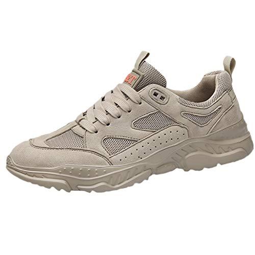 CUTUDE Schuhe Herren Sneaker Freizeitschuhe Mode Laufschuhe Outdoor Sportschuhe Rutschfeste Turnschuhe Wanderschuhe (Khaki, 45 EU) -